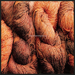 Pumpkin Pie Cotton Rayon Twist Lace Yarn