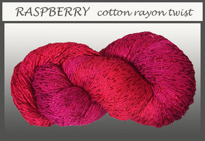 Raspberry Cotton Rayon Twist Yarn