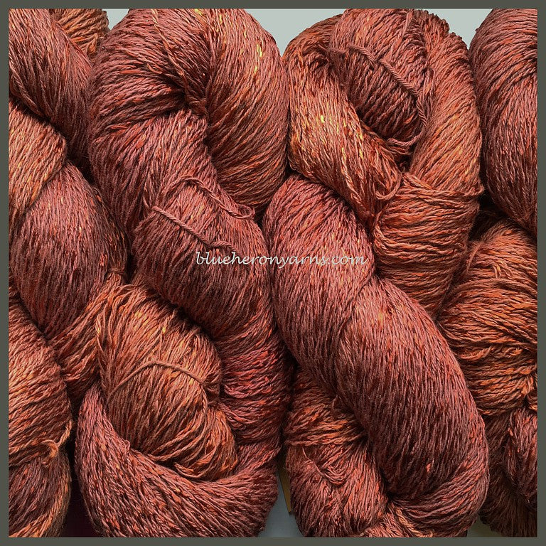 Rosewood Cotton Rayon Twist Lace Yarn