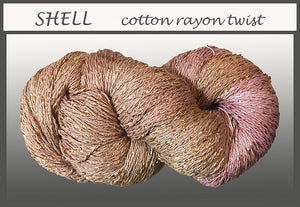 Shell Cotton Rayon Twist Yarn