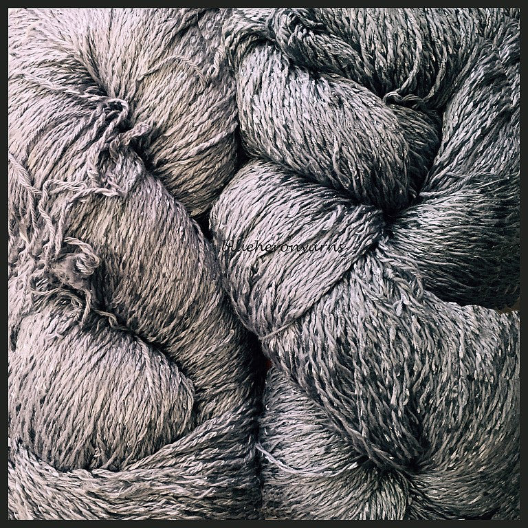 Silver Cotton Rayon Twist Yarn