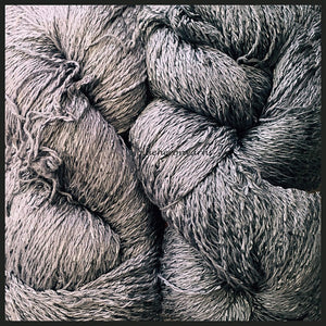 Silver Cotton Rayon Twist Lace Yarn