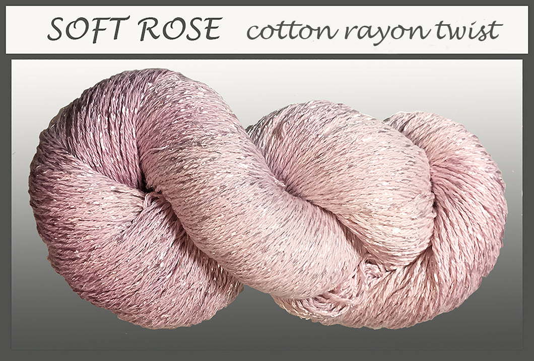 Soft Rose Cotton Rayon Twist Yarn