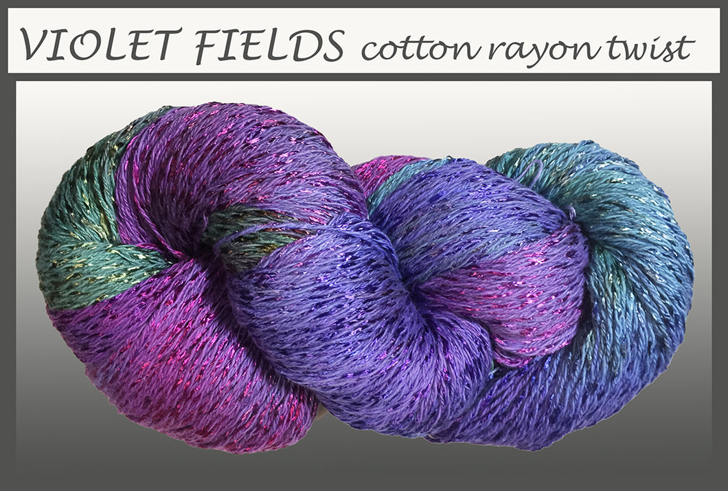 Violet Fields Cotton Rayon Twist Yarn