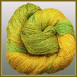Lemon-Lime Cotton Rayon Twist Lace Yarn