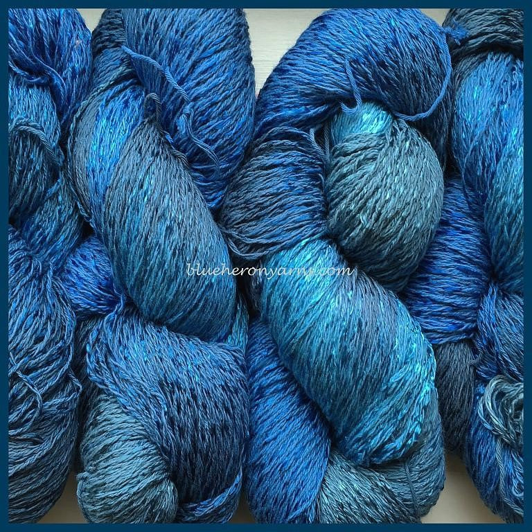 Denim cotton rayon twist lace yarn