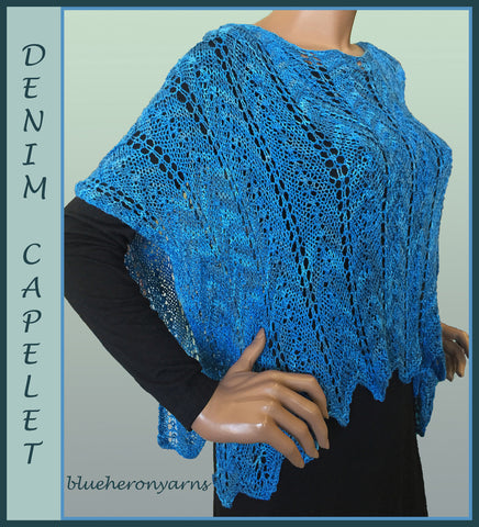 Denim Lacy Capelet