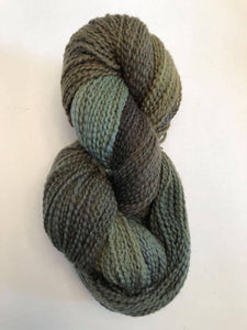Deep Olive soft twist wool yarn