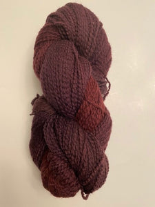 Deep Plum Soft Twist Wool Yarn