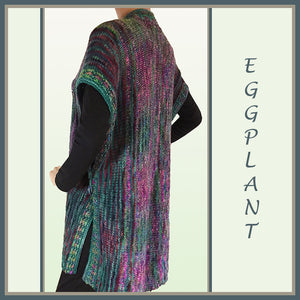 Eggplant Sleeveless Coat
