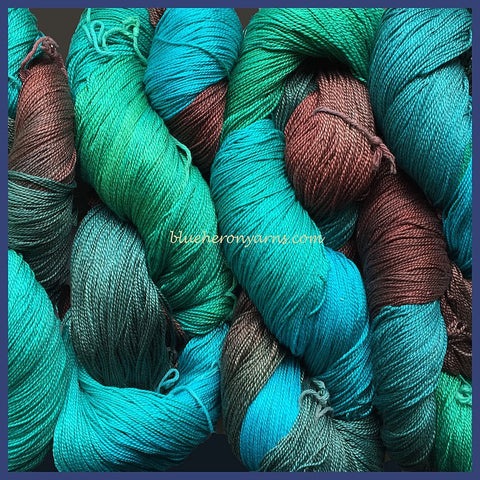 Turquoise Egyptian Merc Cotton Yarn