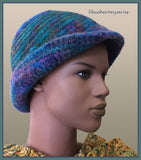 Felted Hat: Deep Ocean