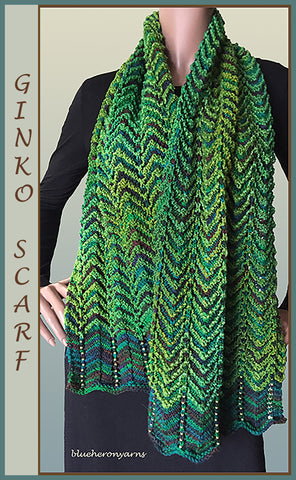Ginko Sock Plus/Beaded Wool Scarf Kit
