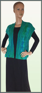 Green Leaf Wool Vest