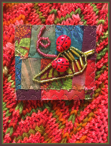 Quilted Pin: Lady Bug, Lady Bug
