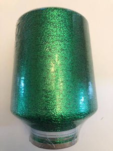 1 lb. cone of vintage metallic fine yarn: Leprechaun