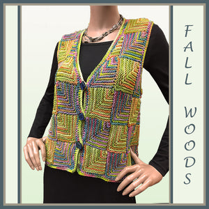 Fall Woods Mitered Vest