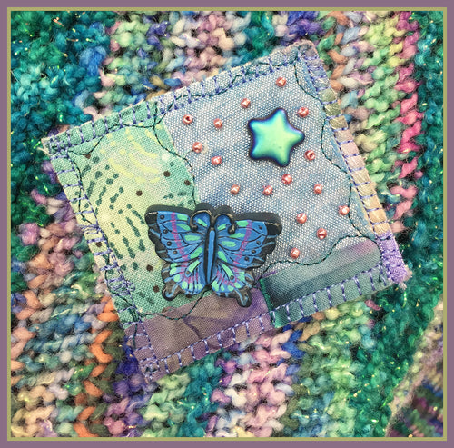 Quilted Pin: Night Flight