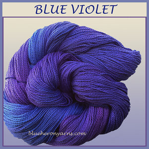 Blue Violet Organic Cotton Yarn
