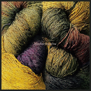 Old Gold cotton rayon twist lace yarn