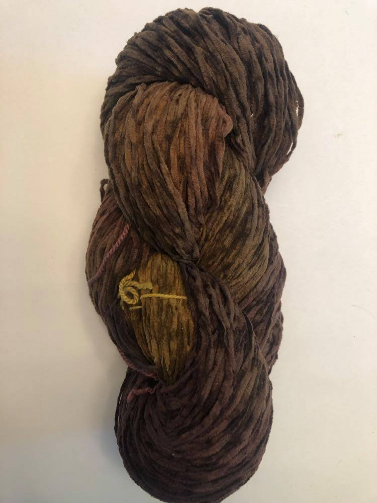 Old Gold bulky cotton chenille yarn