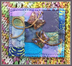 Quilted Pin: Butterfly Chase