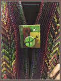 Rainbow Scarf: Forest Scarf/Pin