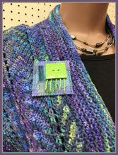 Nebula Rainbow Scarf and Pin