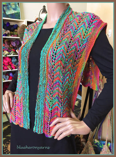 Sunset Rainbow Capelet