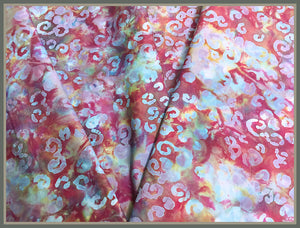 Cotton Batik Fabric: Reef