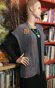 Beaded Ribbed Vest: Aurora