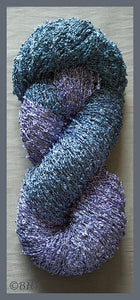 Butterfly Blue Rayon Loop Yarn