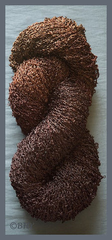 Chocolate Rayon Loop Yarn
