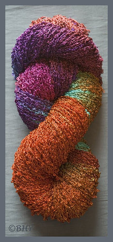 Deep Copper Rayon Loop Yarn