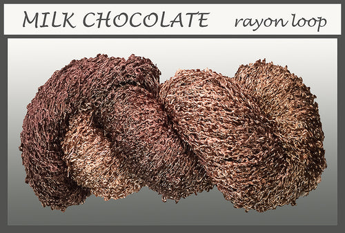 Milk Chocolate Rayon Loop Yarn