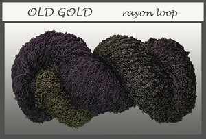 Old Gold Rayon Loop Yarn