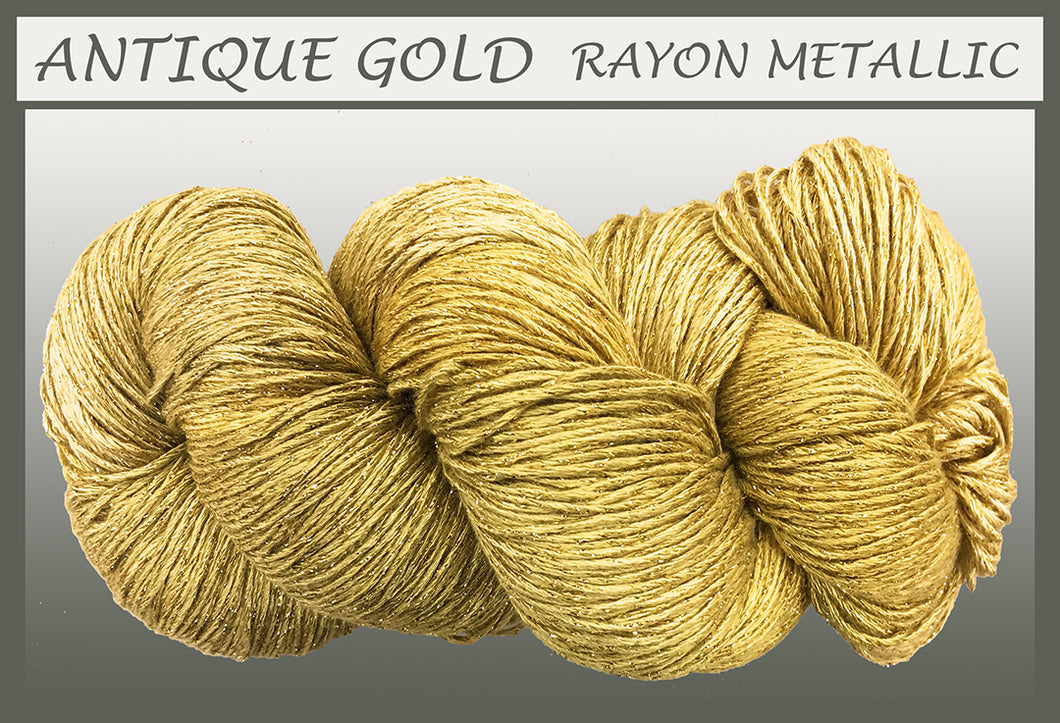 Antique Gold Rayon Metallic Yarn