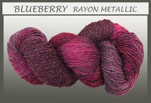 Blueberry Rayon Metallic Yarn