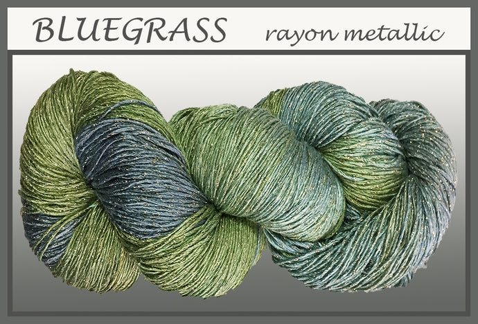 Bluegrass/gold Rayon Metallic Yarn