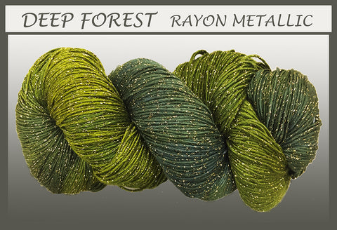 Deep Forest Rayon Metallic Yarn