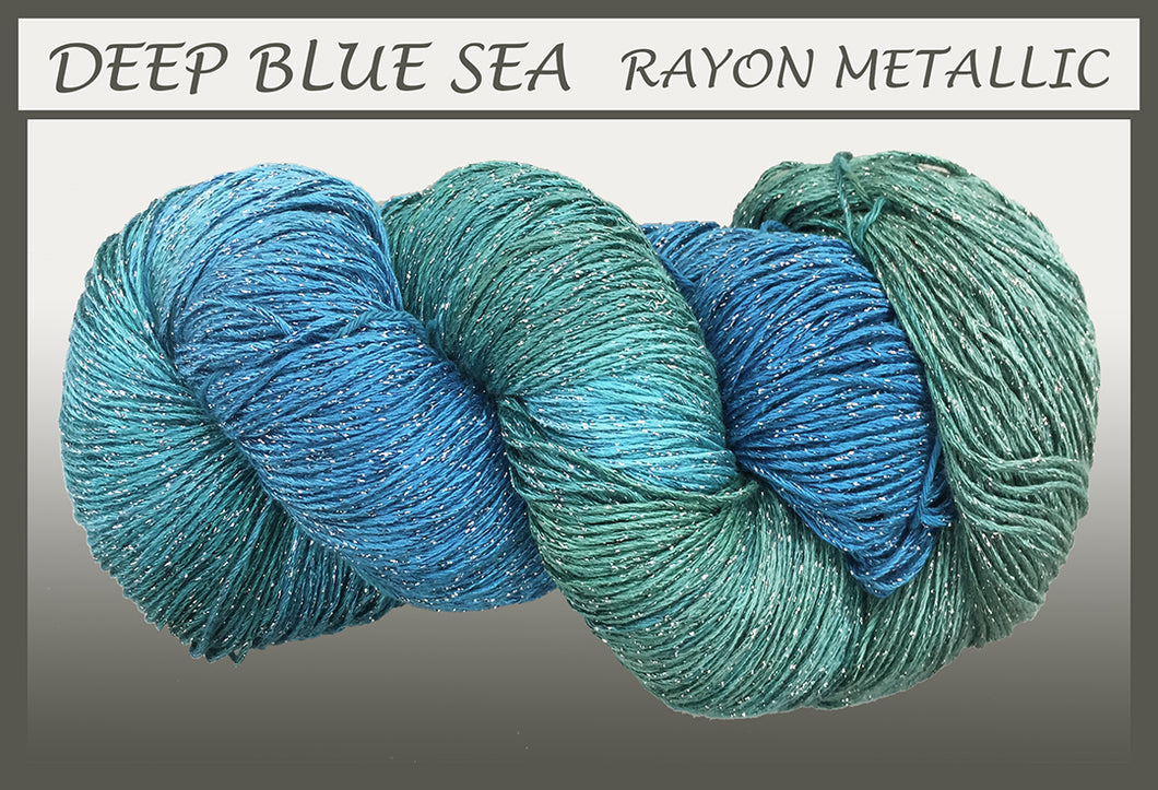 Deep Blue Sea Rayon Metallic Yarn
