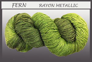 Fern Rayon Metallic Yarn