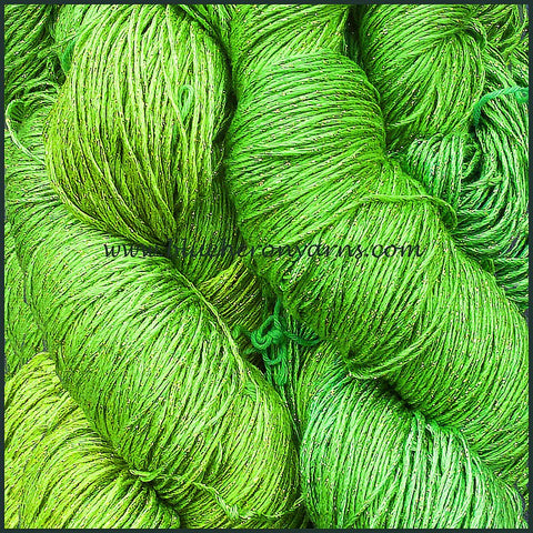 Lime Rayon Metallic Yarn