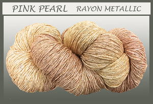 Pink Pearl/gold Rayon Metallic Yarn