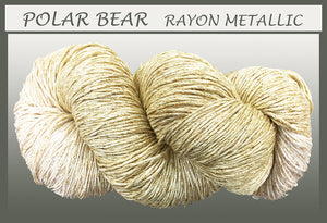 Polar Bear/gold Rayon Metallic Yarn