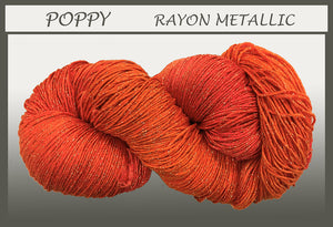 Poppy Rayon Metallic Yarn