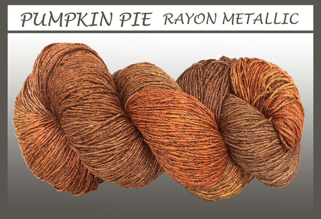 Pumpkin Pie Rayon Metallic Yarn