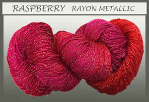 Raspberry Rayon Metallic Yarn