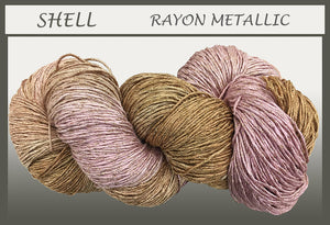 Shell Rayon Metallic Yarn