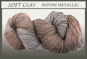 Soft Clay Rayon Metallic Yarn